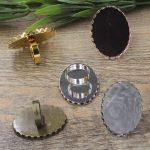 50pcs Cabochon 30*40mm Oval Pad ring blank Cameo Tray,<b>Antique</b> Bronze/Gold/Silver Ring setting,Handmade DIY Zakka <b>jewelry</b> Finding