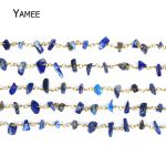 5M Dark Blue Irregular Rosary Style Beaded Chain <b>Antique</b> Copper Tone Wire Wrapped Beaded Chain Rosary Chain Gravel Beads <b>Jewelry</b>