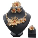 Fashion African <b>Jewelry</b> sets Brand Dubai gold-color Crystal <b>Jewelry</b> sets Wholesale Bridal <b>Accessories</b> nigerian Wedding <b>Jewelry</b>