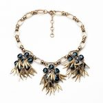 Three Colors Glass Flowers Pendant <b>Antique</b> Gold Color Tassel Necklace For Women Vinatge Statement <b>Jewelry</b>