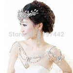 New Fashion Bride <b>Jewelry</b> Vintage shoulder Chains big Necklaces Pendant Long Necklace Wedding Shoulder strap Bridal <b>Accessories</b>