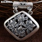 BALMORA 990 Pure Silver Hollow Pendants for Women Mother Gift Vintage Thai Silver <b>Jewelry</b> <b>Accessories</b> Without a Chain SY10712