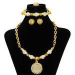 2018 Dubai Luxury Onyx Women Bridal <b>Jewelry</b> Sets Pendant Necklace Gold Fashion New Crystal Dangle Earrings <b>Jewelry</b> <b>Accessories</b>