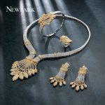 NEWBARK Plant Shape Fashion Cubic Zirconia <b>Jewelry</b> Set Four-piece Women Wedding Engagement Fashion Top Quality Party <b>Accessories</b>