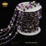 5Meter/Lot Purple Agate Chip <b>Jewelry</b> Finding,Fashion Stone Necklace Chains,<b>Antique</b> Bronze Plated Chain For <b>Jewelry</b> Making JD0125