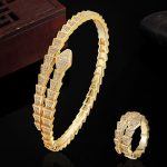 Brand Bridal <b>Jewelry</b> Sets AAA Zircon Bangle And Ring <b>Accessories</b> Sets For Women Wedding Rings Gold Aneis Love Bangle Bracelet