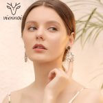 Viennois Vintage Gold Color Ethnic Style Dangle Earrings For Women Green Leather Rhinestone Flower Drop Earrings <b>Antique</b> <b>Jewelry</b>