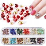 Nail <b>Art</b> <b>Deco</b> A diamond imitation Czech glass bottom tip rhinestone nail round bottom <b>jewelry</b> drilling