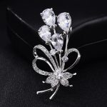 Luxury Flower Cubic Zirconia Crystal Pins and Brooches for Women Men Suit Scarf Large Broches Fashion <b>Jewelry</b> <b>Accessories</b> X336