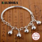 BALMORA Genuine 925 Sterling Silver <b>Jewelry</b> Simple Fashion Bracelets Bangles for Women Lover Party Gift <b>Accessories</b> SZ0097