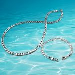 Men's <b>jewelry</b> sets, 925 sterling silver necklace bracelet chain.Men's matching necklace fashion <b>accessories</b> width 6mm.