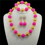 2017 New Nigerian Wedding <b>Jewelry</b> Sets Indian Bride <b>Accessories</b> Gold-color Ball Choker Necklace African Beads <b>Jewelry</b> Sets