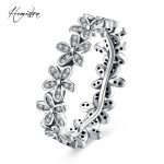 Hemiston Luxury <b>Antique</b> 100% 925 Sterling Silver Floral Flowers Rings Micro CZ Brand Rings for Women Wedding <b>Jewelry</b> PAR159