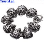 TrustyLan Animal Lion Head <b>Jewelry</b> <b>Accessories</b> Gothic Cool Stainless Steel Mens Bracelets Bangles Rock Punk Bracelet Brazalet