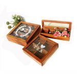 Wooden Glass Vintage Retro <b>Antique</b> <b>Jewelry</b> Stationery Tea Storage Boxes Organizer Home Decoration ZAKAK Style Storage boxes