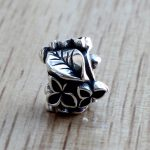 Charms 925 Sterling Silver Flower And Leaf Decoration <b>Antique</b> Making Bead Fit Vintage Charm European Style <b>Jewelry</b>