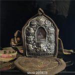 TGB169 Tibet old brass <b>Antiqued</b> Prayer box Tibetan Lucky Babao GAU Male Amulet Box Tibetan handicrafts