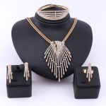 Fine African Beads <b>Jewelry</b> Sets Necklace Bangle Earrings Rings Crystal Party Wedding Gold Color Bridal Collar <b>Accessories</b> Sets