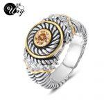 UNY <b>Jewelry</b> Ring Vintage <b>Antique</b> Rings Designer Fashion Brand Hardy Womens CZ Rings Femme Wedding Christmas Valentine Gifts Ring