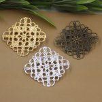 50pcs/Lot 35mm flower pedal Brooches <b>Antique</b> Bronze/Silver/Gold vintage cabochon pin base blank settings diy handmade <b>jewelry</b>
