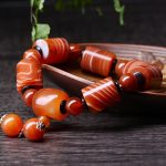 JoursNeige Natural Sardonyx Stone Bracelets 15mm Fine Carving Men Bracelet <b>Jewelry</b> <b>Accessories</b> Men Lucky Beads Bracelet