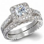 Victoria Wieck <b>Antique</b> <b>Jewelry</b> AAA CZ Simulated stones 10KT White Gold Filled Wedding Band Ring Set Size 5-11 Free shipping