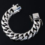 100% 925 <b>sterling</b> <b>silver</b> domineering bracelets handmade 2cm 20mm crude 22cm fashion punk bracelets <b>silver</b> 925 for man <b>jewelry</b>