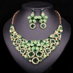 Fashion Rhinesthones Wedding Necklace Earrings set Bridal <b>Jewelry</b> Sets Bride Indian Jewellery Party Dress Costume <b>Accessories</b>