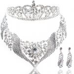 Fashion bridal necklace bride hair <b>accessories</b> <b>jewelry</b> set marriage crowns and tiaras necklace earrings sets