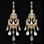 Stunning <b>Art</b> <b>Deco</b> Crystal Rhinestones Wedding Dangle Earrings Bridesmaids Chandelier Earrings Bridal Drop Earrings Women <b>Jewelry</b>