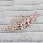 Hot Selling <b>Art</b> <b>Deco</b> Clear Rhinestones Crystals Flower Leaf Alloy Wedding Hair Comb Bridal Hair Accessories Hair <b>Jewelry</b>