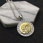 Solid Silver Indian Tribal Chief Coin Pendant For Necklace Men Women Gothic Punk 925 Sterling Silver <b>Jewelry</b> <b>Accessory</b>, 13.6g