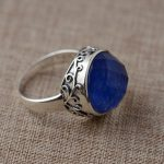 Lapis S925 sterling silver ring wholesale <b>antique</b> <b>jewelry</b> grass grain refining process of one generation
