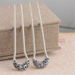 Thai Silver S925 Silver Hair Accessory Wholesale <b>Antique</b> Style Female Phoenix Peony Hair Sticks Fine Quality Hair <b>Jewelry</b>