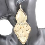 <b>Art</b> <b>Deco</b> Gold Textured Snake Puffy Rhombus Ethnic Big Dangle Earrings Gift <b>Jewelry</b> 2018 New