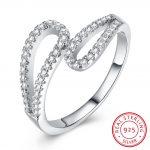Hemiston Luxury <b>Antique</b> 100% 925 Sterling Silver Double Sound Full White Zircon Rings for Women <b>Jewelry</b> SVR251-8