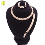 Fashion <b>Jewelry</b> Sets For Women Earrings Ring Bracelet Necklace Gold Color Classic Pendant Wedding Dress <b>Accessories</b>