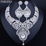 FARLENA <b>Jewelry</b> Romantic Peacock tail feathers shape Necklace Earrings for Bridal Wedding <b>Accessory</b> Fashion Crystal <b>Jewelry</b> sets