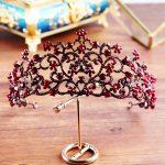 SLBRIDAL 2018 New Bride Wedding <b>Antique</b> Gold Crown Austrian Crystal Large Queen Hair Crown for Women Wedding Hair <b>Jewelry</b> OXGB01
