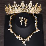 Gold Color Bridal <b>Jewelry</b> Sets Crown Necklace Earring For Women Vintage Pearl Crystal Wedding Hair <b>Accessories</b> <b>Jewelry</b> Gift
