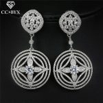 CC earrings for women crystal pearl ethnic style round shape romantic wedding <b>accessories</b> bridal party female cz <b>jewelry</b> E0044