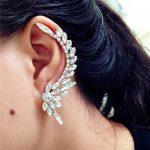 Stud Earrings Sliver/Black Color Punk Stud Earring Crystal Piercing Ear Fashion <b>Jewelry</b> <b>Accessories</b> Women Earring Rhinestones