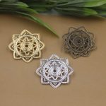 50pcs/Lot 30mm flower pedal Brooches <b>Antique</b> Bronze/Silver/Gold vintage cabochon pin base blank settings diy handmade <b>jewelry</b>