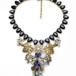 N01093 Trendy <b>Jewelry</b> Accessories Friendly Necklace <b>Antique</b> Wholesale Statement Rhinestone Necklace Exaggerated For Women