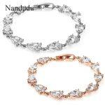 Nandudu High Quality AAA Zircon Bracelet New Fashion Women Girl Bangle <b>Accessories</b> Lady <b>Jewelry</b> Gift B584 B589