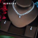 HIBRIDE Luxury Water Drop AAA Cubic Zirconia Women <b>Jewelry</b> Sets Wedding Bride Dress <b>Accessories</b> Wholesale Price N-368