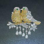Lovely Cubic Zirconia Love Birds Animal Brooch Broach Pin Pendant High Quality Women <b>Jewelry</b> Dress <b>Accessories</b> HR02352