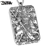 Vintage Chinese Buddha Pendant for Mens Fine <b>Jewelry</b> Mens <b>Accessories</b> Real S990 Sterling Silver Necklace Bodybuilding Pendant