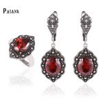 PATAYA True White Gold Costume <b>Jewelry</b> Sets Multicolor Natural Zircon Fine <b>Accessories</b> Dubai Pendants Earrings Ring <b>Jewelry</b> Set