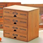 ZAKKA Vintage Real Wooden Storage Box With 4 Drawer Imitate <b>Antique</b> Creative Furniture Storage Cabinet <b>Jewelry</b> Collection Case